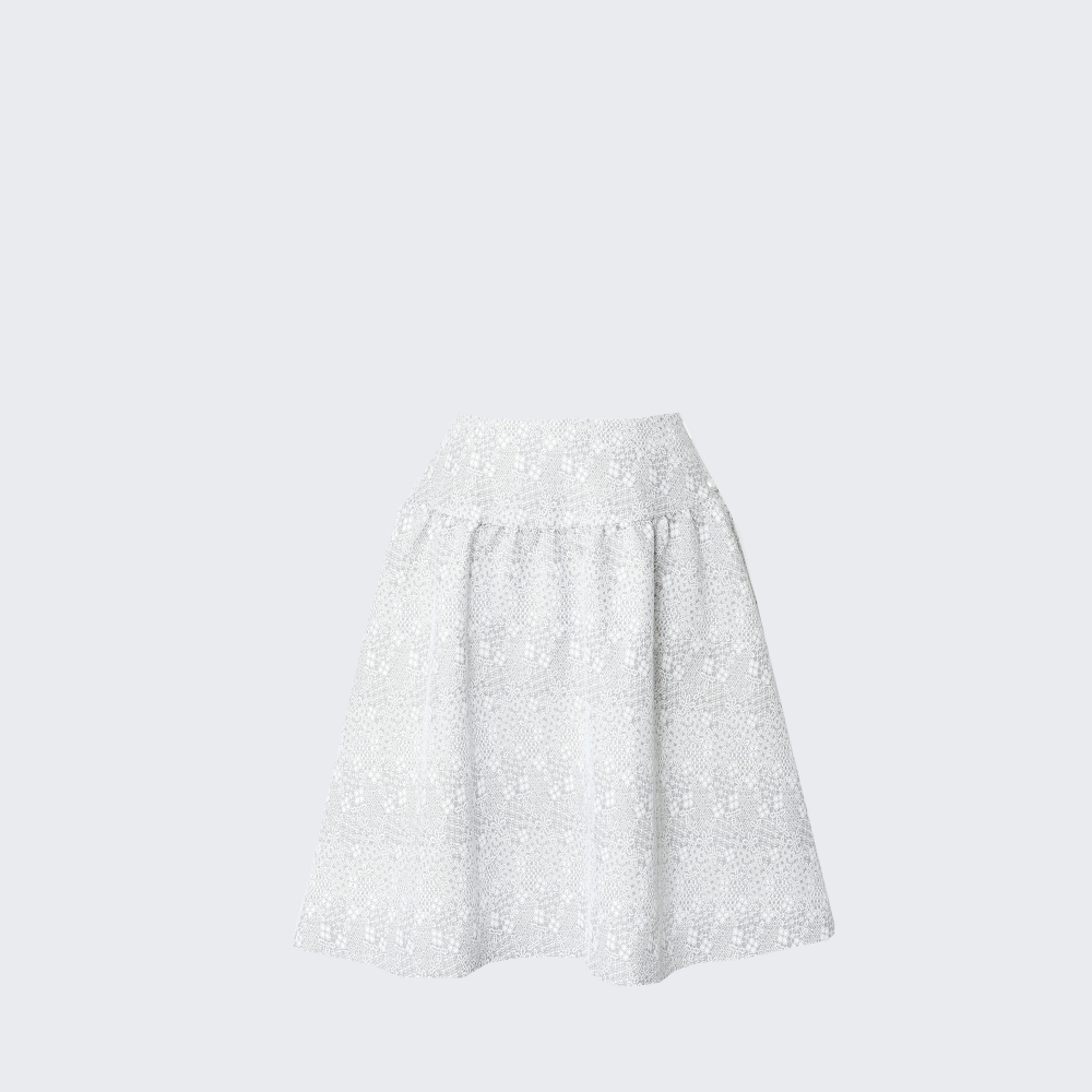 Lace Printed Skirt